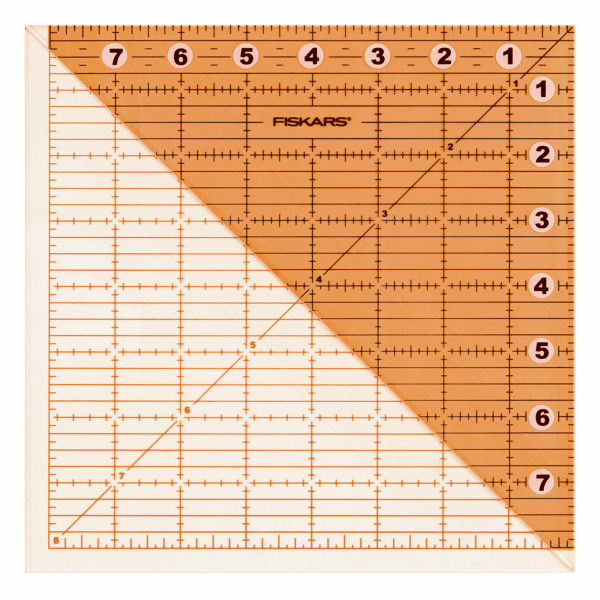 Fiskars: Ruler: Acrylic Folding Square: 8 x 8in